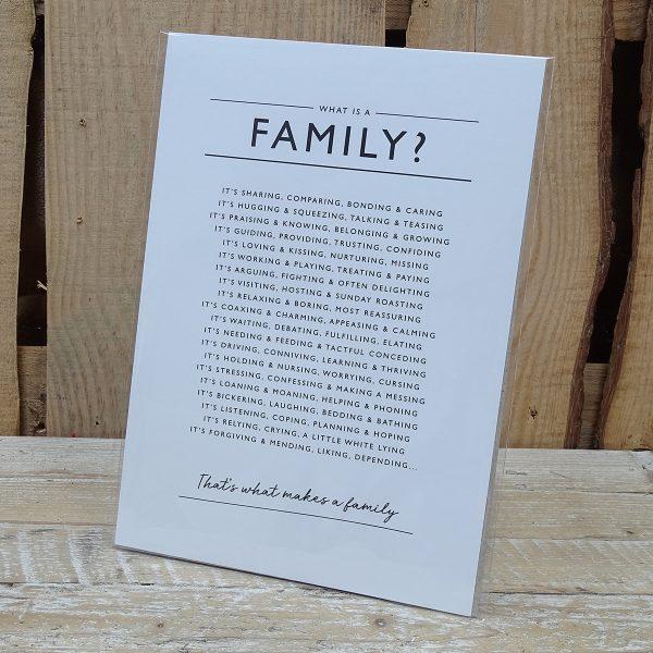 Personal Printed Poem Display Cards