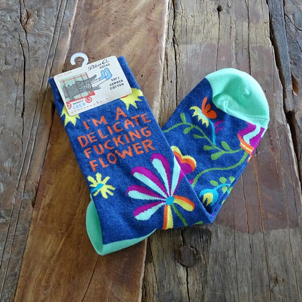 Lavender House Slogan Socks 1