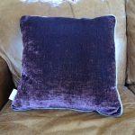 Lavender House Aubergine Grey Velvet Cushion