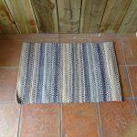 Lavender House Blue Aztec rug