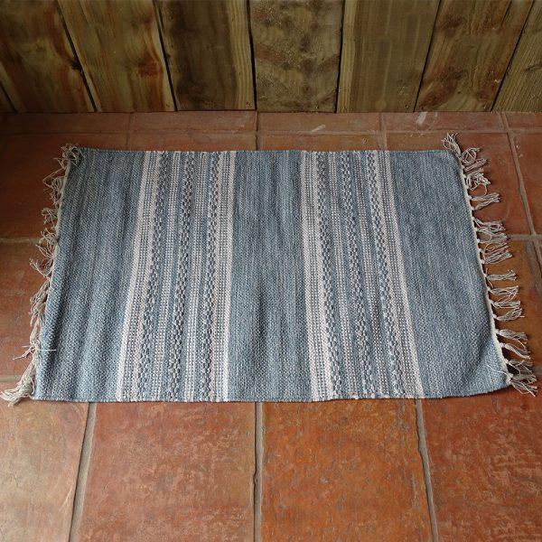 Lavender House Aqua Stripe rug