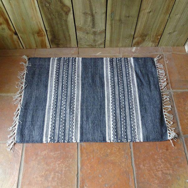 Lavender House Deep Denim Stripe rug
