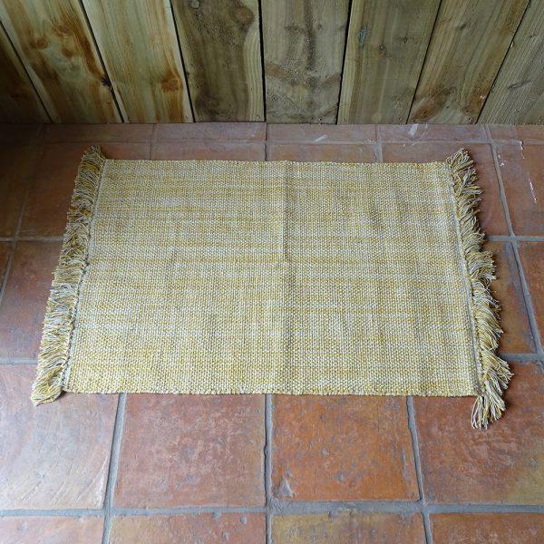 Lavender House Mustard weave rug