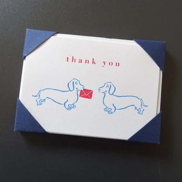 Thank You Note Card Dog Print