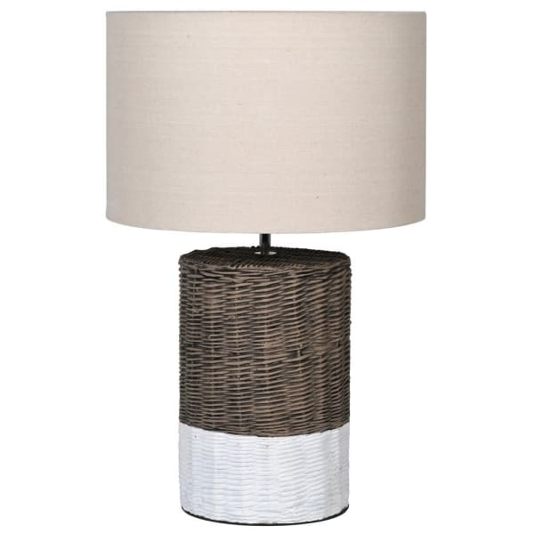Lavender House Basket Effect Lamp with Shade