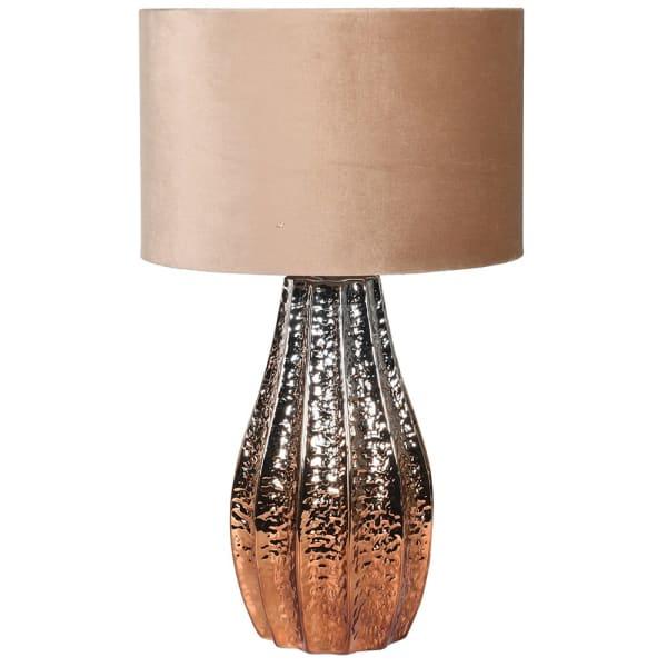 Lavender House Bronze Lamp with Velvet Shade