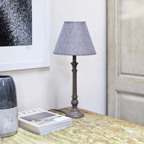 Lavender House Dark Base Lamp with Shade