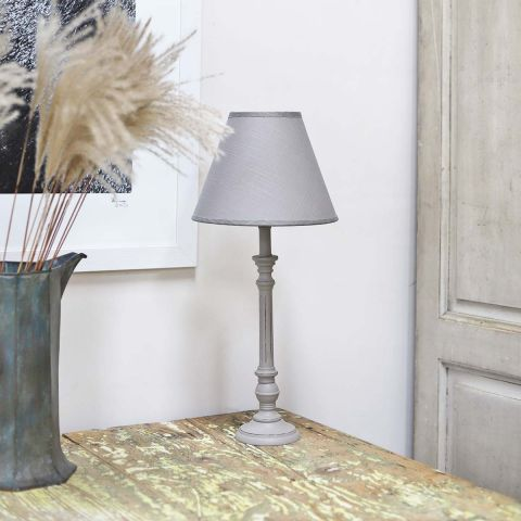 Lavender House Grey Grove Base Lamp with Shade