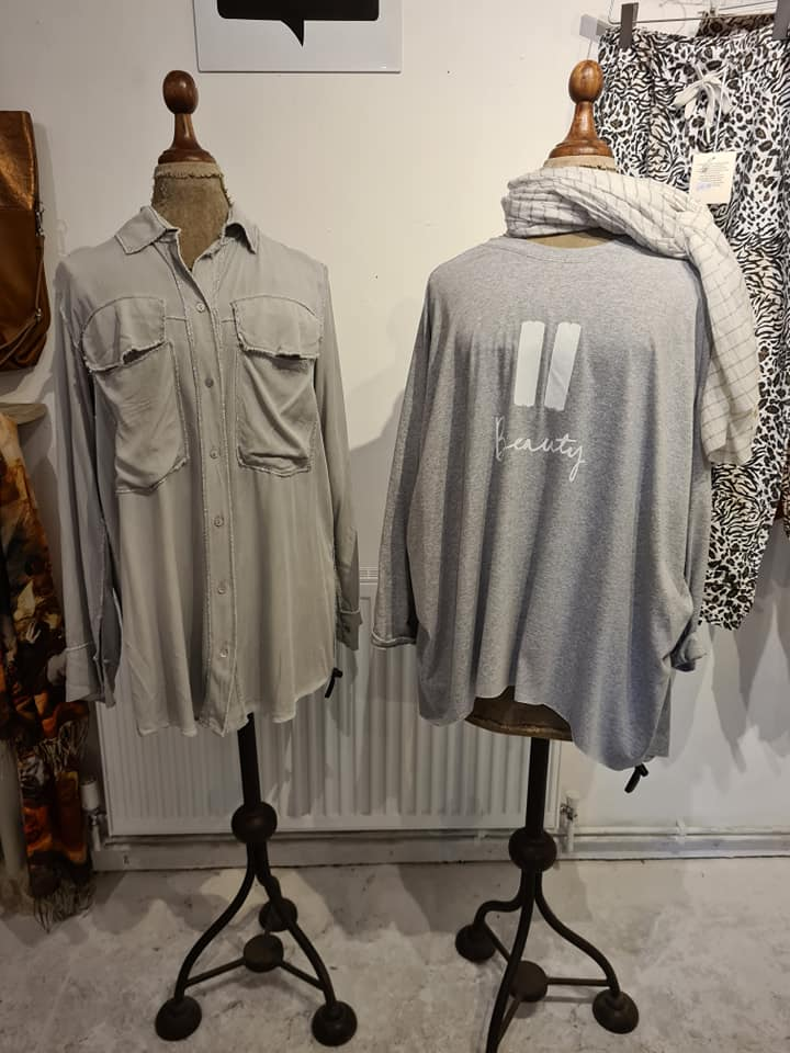 Lavender House Grey Blouses