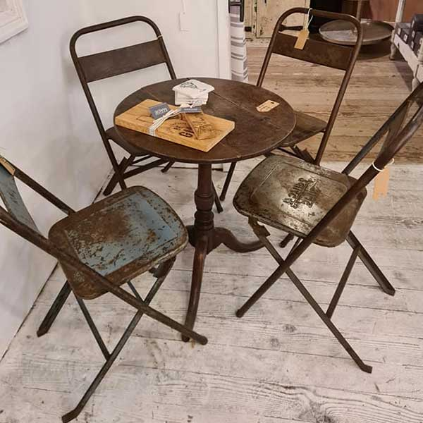 Rustic Chairs and Table Set