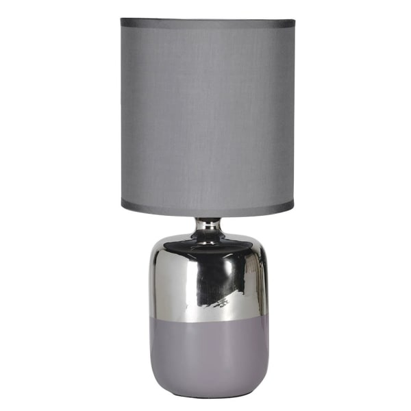 Lavender House Silver Lamp rounded base with Shade