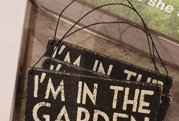 Garden Books and Signs