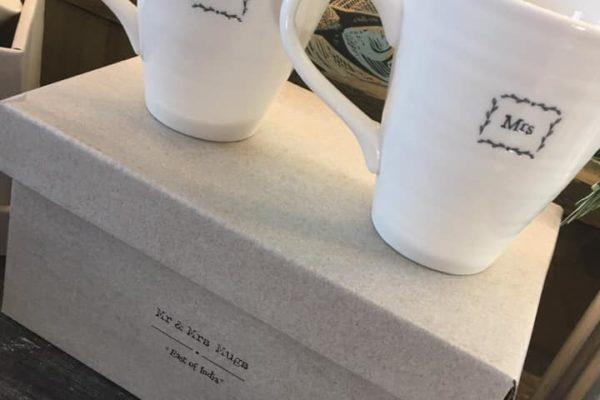 His and hers wedding mugs
